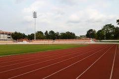 Football Stadium Running track lines Royalty Free Stock Image