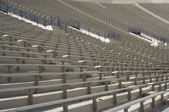 Football Stadium Seating. American football stadium bleachers and seating, row after row of stadium seats stock photo