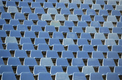 Football stadium seats Stock Image