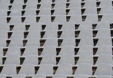 Football stadium seats Stock Photo