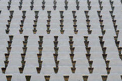 Football stadium seats Stock Photography