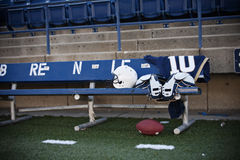 Football Stadium Sidelines Royalty Free Stock Photography