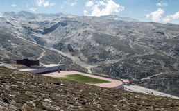 Football stadium of Sierra nevada Stock Image