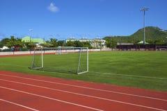 Football stadium in St Barths, Caribbean. Sports stadium in Gustavia, St Barths, Caribbean Stock Photo