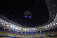 Football stadium during Uefa Champions League night Stock Photos