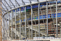Football Stadium Under Construction Stock Images
