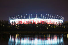 Football stadium in Warsaw, Poland Stock Photography
