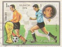 Football stamp Munich. Football postage stamp `Munich` 1974 Stock Photo