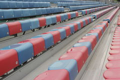 The Football stands Stock Image