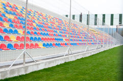 Football stands Stock Images