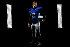 Football star back light with lights Royalty Free Stock Photo