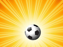 Football on starburst Royalty Free Stock Image