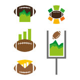 Football stats. A set of football stats icons Stock Photo