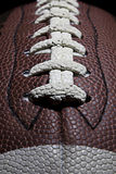 Football Stitches. A close up of the stitches of a football Royalty Free Stock Images