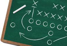 Football strategy Royalty Free Stock Photo