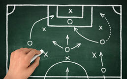 Football strategy   3d illustration Royalty Free Stock Photos