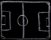 Football strategy planning on blackboard Royalty Free Stock Photography