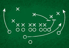 Football Strategy Play vector illustration