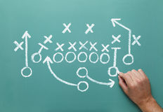 Football Strategy Royalty Free Stock Photography