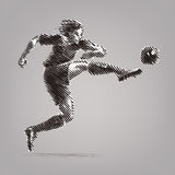 Football striker. Royalty Free Stock Image