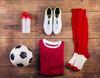 Football stuff on the floor Stock Image