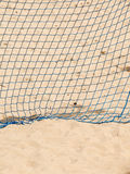Football summer sport. goal net on a sandy beach Royalty Free Stock Image