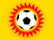 Football sun Stock Photography