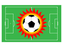 Football sun Royalty Free Stock Images