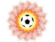 Football sun Royalty Free Stock Photography