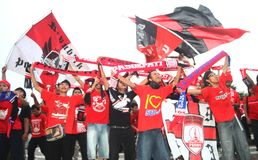 Football supporter Stock Images