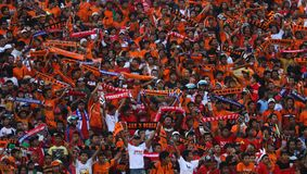 Football supporter Stock Image