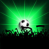 Football supporters background. Crowd of supporters on a football background Royalty Free Stock Photography