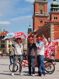 Football supporters in Warsaw Royalty Free Stock Photo