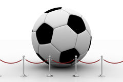 Football Surrounded By Vip Barrier Stock Photography
