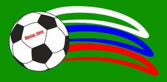 Football symbols Russia stock photo