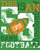 Football t-shirt design. A design for a football t-shirt stock illustration