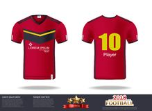 Football t-shirts Vector. Design template for soccer jersey, football kit and tank top for basketball jersey. Sport royalty free illustration