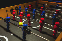 Football Table. Details of a modern and new football table Royalty Free Stock Image