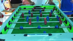 Football Table Entertainment Children Toy stock footage