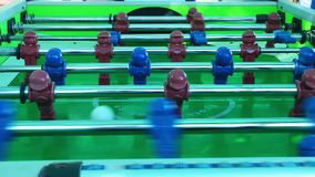 Football Table Entertainment Children Toy stock video footage