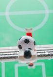 Football Table. Foosball colored plastic ball players stock image