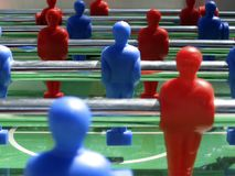 Football table game. With red and blue players Stock Photo