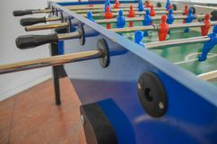 Football Table Game. Red And Blue Players Royalty Free Stock Image