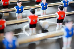 Football table game players suggesting team coaching. Or training Stock Photos