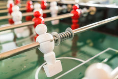 Football table game with red and white player . Stock Image