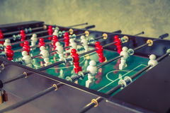 Football table game with red and white player Royalty Free Stock Photos