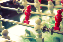 Football table game with red and white player Royalty Free Stock Images