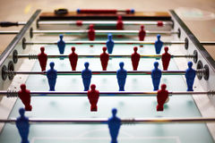 Football Table. This photo shows a football table with red and blue players Stock Photos