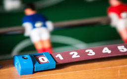 Football table. Score showing zero Royalty Free Stock Photography