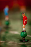 Football tabletop game figure Royalty Free Stock Photo